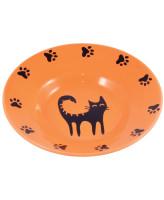 КерамикАрт Миска керамическая - блюдце для кошек 140 мл оранжевая