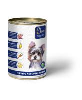 CLAN CLASSIC консервы для собак Мясное ассорти с печенью 340г