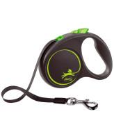 FLEXI Black Design ременной поводок-рулетка для собак, зеленый