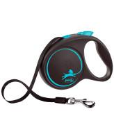 FLEXI Black Design ременной поводок-рулетка для собак, синий