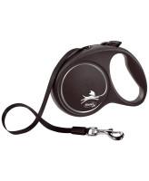 FLEXI Black Design ременной поводок-рулетка для собак, серебро