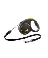 FLEXI Black Design тросовый поводок-рулетка для собак, зеленый