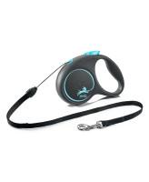 FLEXI Black Design тросовый поводок-рулетка для собак, синий
