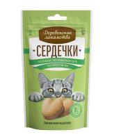 Деревенские лакомства для кошек Сердечки здоровья мочевыводящих путей и почек 30гр