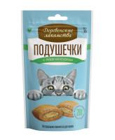 Деревенские лакомства для кошек Подушечки с пюре из курицы 30гр