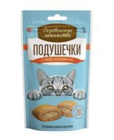 Деревенские лакомства для кошек Подушечки с пюре из креветок 30гр
