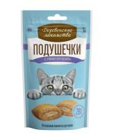 Деревенские лакомства для кошек Подушечки с пюре из краба 30гр