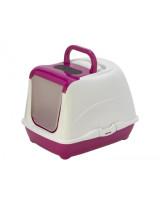 Туалет-домик для кошек Moderna Cat с угольным фильтром и совком, 50х39х37см, ярко-розовый