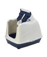 Туалет-домик для кошек Moderna Cat с угольным фильтром и совком, 57х44х41см, черничный