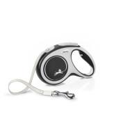 FLEXI New Comfort ременной поводок-рулетка для собак,  черный