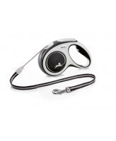 FLEXI New Comfort тросовый поводок-рулетка для собак, черный