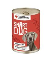 Smart Dog консервы для собак и щенков кусочки Говядины с морковью в нежном соусе