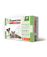 Инспектор Quadro Tabs таблетки для кошек и собак 2-8кг от внутренних и внешних паразитов 4шт