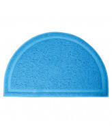 Triol Коврик для кошачьего туалета полукруглый голубой, 400*250мм
