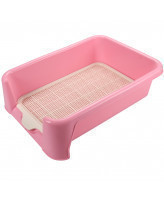 Triol Туалет для собак P587 сетка в комплекте, розовый, 400*400*155мм