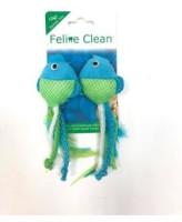 Игрушка для кошек Dental Рыбки, ленты и перья 2 шт. Feline Clean
